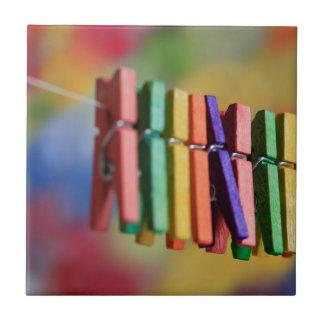 Mini Clothespins Tile