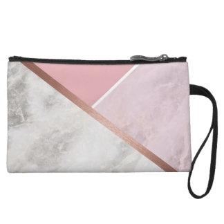 Mini Clutch Bag Copper & Rose Marble