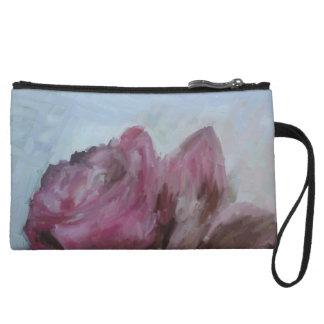 Mini clutch, bag, rose, purple wristlets