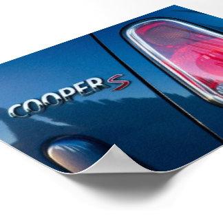 Mini Cooper Car - Dark blue - Rearlight poster