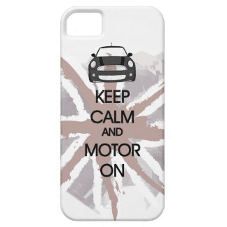 MINI Cooper Keep Calm and Motor iPhone Case iPhone 5 Cover