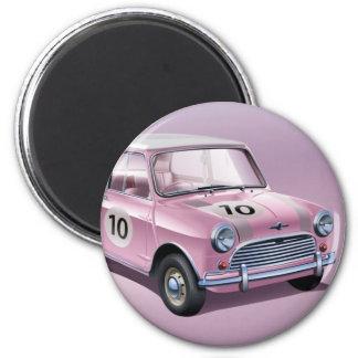 Mini Cooper S1 pink 6 Cm Round Magnet