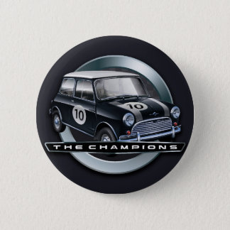 Mini Cooper S black 6 Cm Round Badge