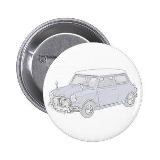 Mini Cooper Vintage-colored 6 Cm Round Badge