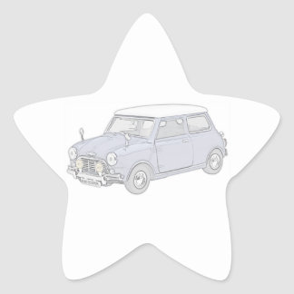 Mini Cooper Vintage-colored Star Stickers