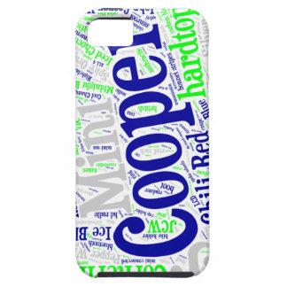 Mini Cooper Words iPhone 5 Case