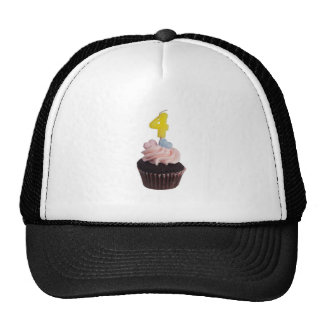 Mini cupcake with candle for four year old cap