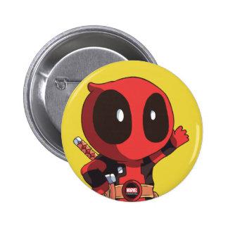 Mini Deadpool 6 Cm Round Badge