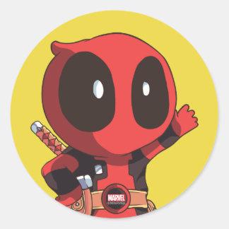 Mini Deadpool Round Sticker