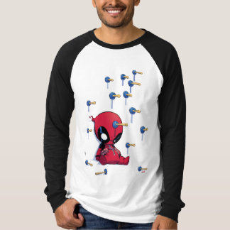 Mini Deadpool Suction Cup Darts T-Shirt