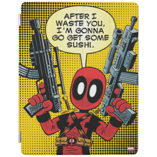 Mini Deadpool With Guns iPad Cover