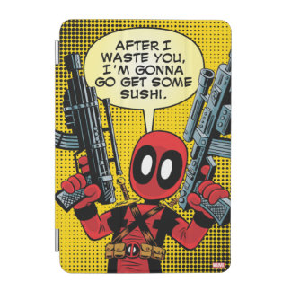 Mini Deadpool With Guns iPad Mini Cover