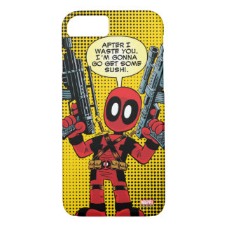 Mini Deadpool With Guns iPhone 7 Case
