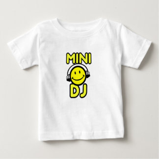 Mini DJ smiley face baby and kids t-shirt