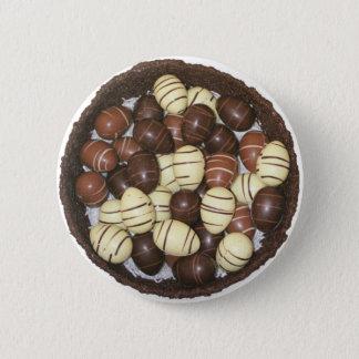 Mini Easter eggs in chocolate nest 6 Cm Round Badge
