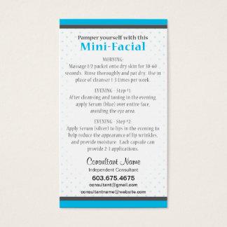 Mini-Facial Instruction Card