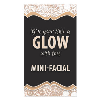 Mini-Facial Instruction Card - GLOW Pack Of Standard Business Cards