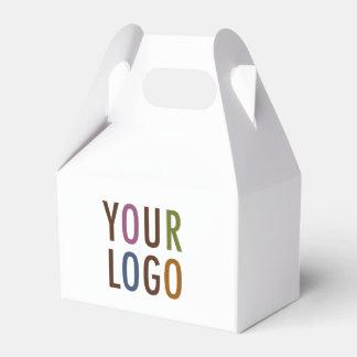 Mini Favor Gift Box with Handle Custom Logo & Text Favour Box