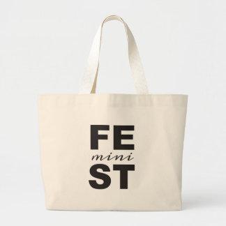 mini feminist large tote bag