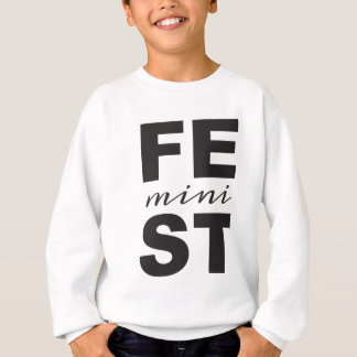 mini feminist sweatshirt