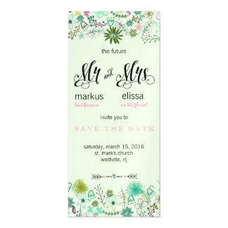 Mini Flowers Save the Date Wedding Invite