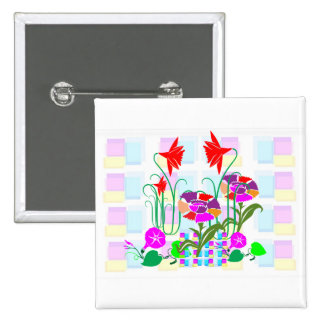 Mini Garden : Flower Arrangement 15 Cm Square Badge