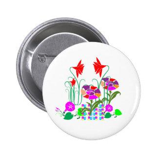 Mini Garden : Flower Arrangement 6 Cm Round Badge