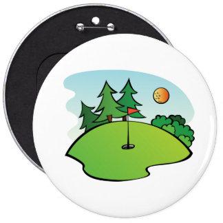 Mini Golf Clip Art 6 Cm Round Badge