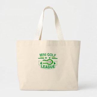 Mini Golf LEAGUE ' Large Tote Bag