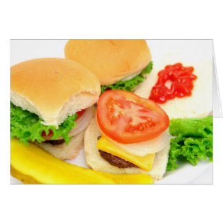 Mini Hamburgers Card