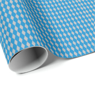 Mini Harlequin Diamonds | Blue Silver Wrapping Paper