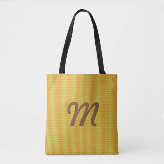 Mini Harlequin Diamonds | Lime Orange Tote Bag