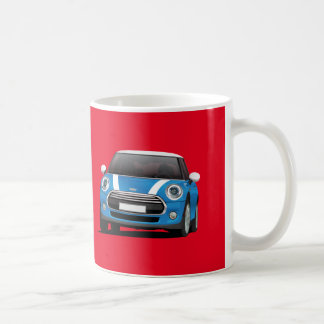 Mini Hatch Cooper (F56) 2 image mug, blue - white Coffee Mug