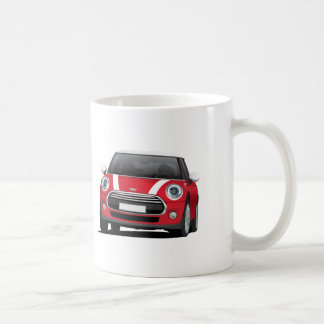 Mini Hatch Cooper (F56) two image mug, white - red Coffee Mug