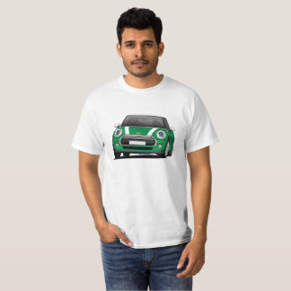 Mini Hatch Cooper illustration, green - white T-Shirt