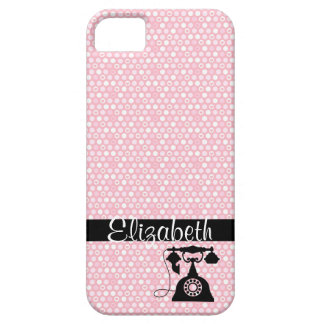 Mini Hearts with Antique Telephone iPhone 5 Cover