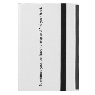 Mini iPad case with quote