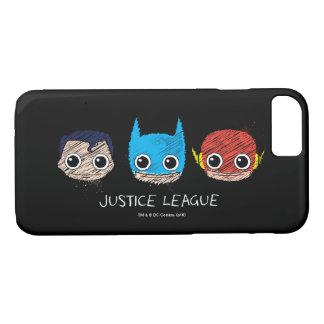 Mini Justice League Heads Sketch iPhone 7 Case