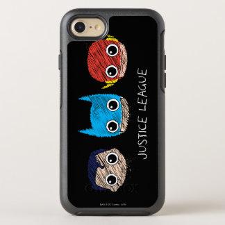 Mini Justice League Heads Sketch OtterBox Symmetry iPhone 7 Case