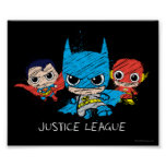 Mini Justice League Sketch Poster