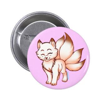 Mini kitsune  botton 6 cm round badge