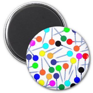 Mini Knob Head Pins 6 Cm Round Magnet