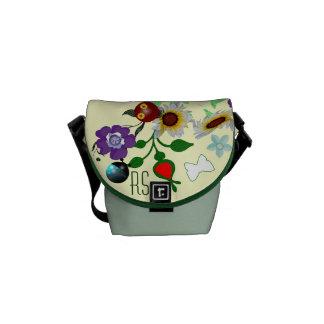 Mini-Ladybug Garden monogrammed Commuter Bags