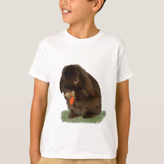 Mini Lop Bunny and carrot T-shirts