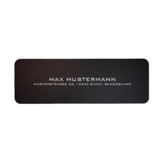 Mini Mali tables elegant modern back transmission Return Address Label