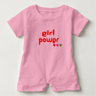 Mini Me Retro Girl Power Baby Bodysuit
