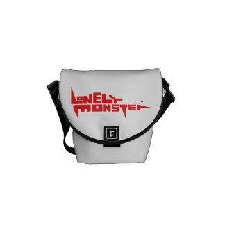 Mini Messenger Bag Outside Print - Red Logo
