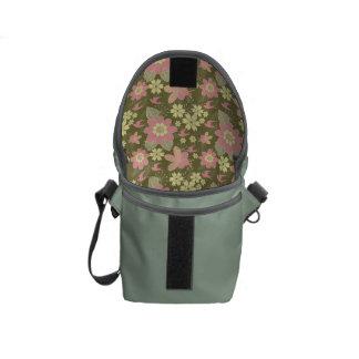 Mini Messenger Bag Pink Floral Lining