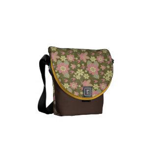 Mini Messenger Bag Pink Yellow Floral