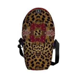 Mini Messenger stock market animal print Commuter Bags